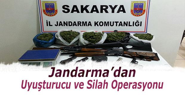 Jandarmadan uyuşturucu ve silah operasyonu