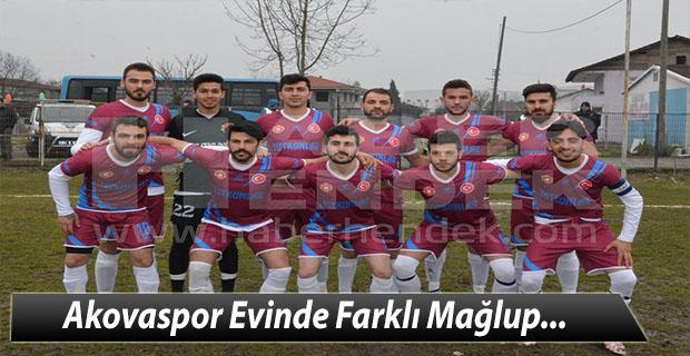 Akovaspor Evinde Farklı Mağlup