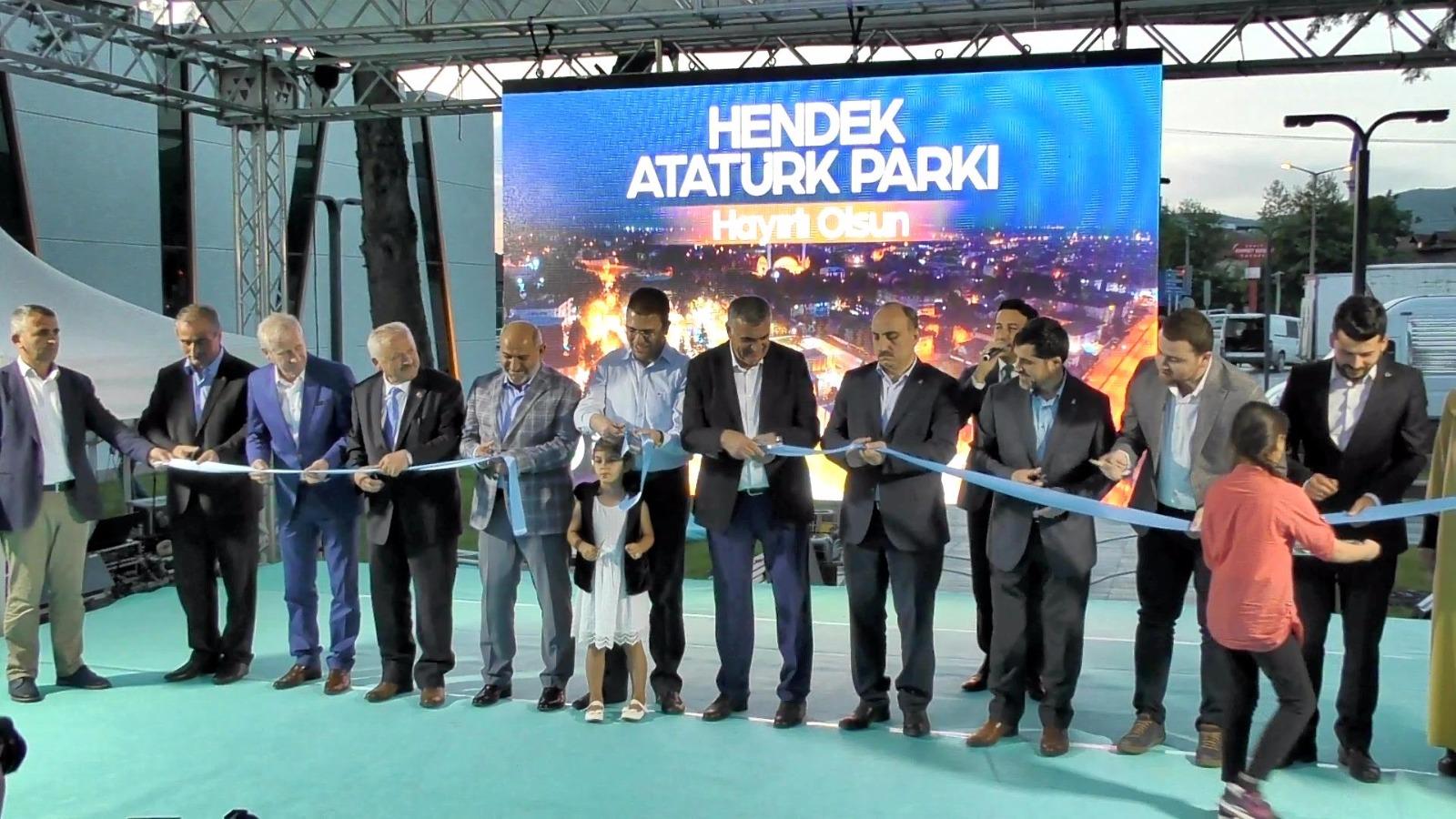 Hendek Atatürk Parkı Açıldı