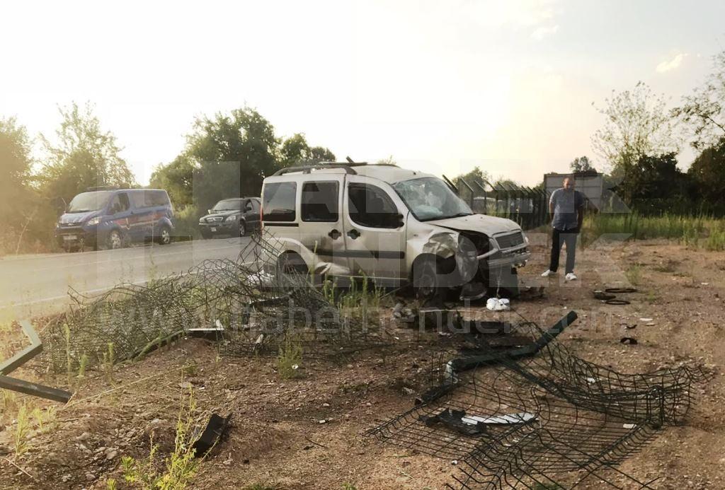 Yoldan Çıkan Araç Devrildi İki Yaralı