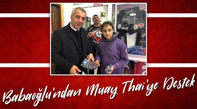 Babaoğlu'ndan Muay Thai'ye Destek