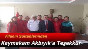 Filenin Sultanlarından Akbıyık'a Teşekkür