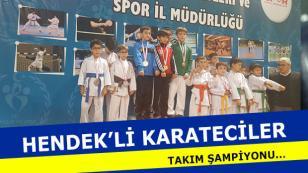 Hendek'li Karateciler Takım Şampiyonu
