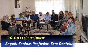 Üniversiteden Engelli Toplum Projesine Tam Destek
