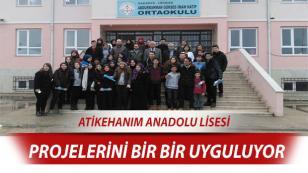 Atikehanim Anadolu Lisesi Sosyal Projelerini Bir Bir Uyguluyor