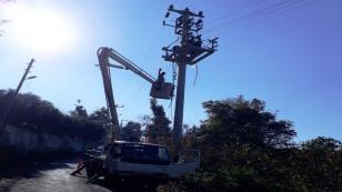 Bakacak'ta Elektrik hatları yenilendi
