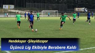 Hendekspor Üçüncü Lig Ekibi İle Berabere Kaldı