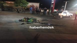 Otomobil ile Motorsiklet Çarpıştı 4 yaralı