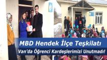 MBD HendekVan'da Öğrenci Kardeşlerimizi Unutmadı