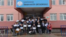 TEOG Türkiye birincisine okulunda tören