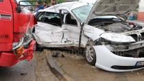 Hendek'te Kaza 1'i Ağır 5 Yaralı