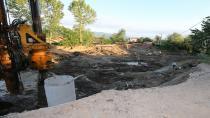 Ortaköy'e Yeni Köprü Yapımı Sürüyor
