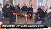 Muhtarlardan CHP Hendek İlçe Teşkilatına Ziyaret