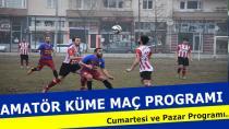 Amatör Kümede Maç Programı