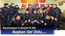 Kazımiyespor'da Genç Başkan Sel ve Yönetimi Kolları Sıvadı