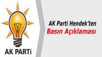 AK Parti Hendek Teşkilatından Basın Açıklaması