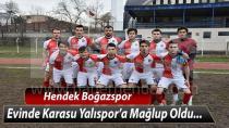 Hendek Boğazspor evinde Karasu Yalıspor'a Yenildi
