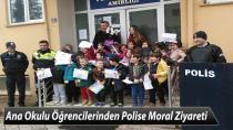 Ana Okulu Öğrencilerinden Polise Moral Ziyareti