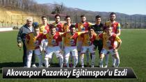 Akovaspor Pazarköy Eğitimspor'u Ezdi