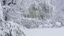 23 Nisan Sabahı Hendek'te Kar Sürprizi