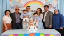 İkiz Kardeşler Yaman ve Yiğit'e Dedelerinden Muhteşem Doğum Günü