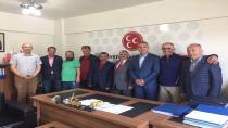 Esnaf Odası Başkan Adayı Bedir MHP'yi Ziyaret etti