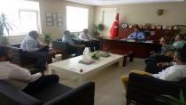 Bedir ve Ekibi Kaymakam Burhan'ı Ziyaret Etti