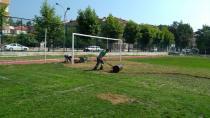 Atatürk Stadının bakım çalışmaları sürüyor