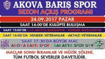 Akova Barışspor'dan Sezon Açılışına Davet