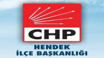 CHP Hendek'ten Kudüs Açıklaması