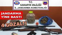 Jandarma'dan Eş zamanlı Uyuşturucu Operasyonu