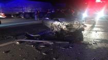 İki otomobilin karıştığı kazada 8 kişi yaralandı