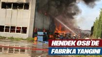 2.OSB'de Fabrikanın deposu yanıyor