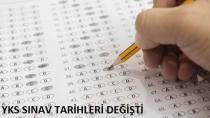 YKS Sınav Tarihleri Değişti