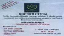 Erbakan Karasu'da Yad Edilecek