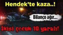 Aynı Kavşakta Yine Kaza 10  Yaralı