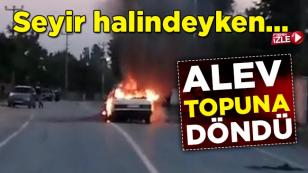 Yeşilyurt Araç Yangını (video)