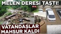 Komşuda Sel Felaketi, Vatandaşlar Mahsur Kaldı