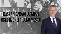 Başkan Babaoğlu 24 Kasım  Öğretmenler gününü kutladı