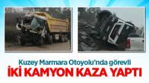 Kayganlaşan yol kazalara neden oldu