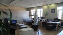 Hendek'te Korona virüse karşı dezenfektan harekatı