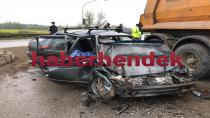 Hendek'te kaza 1 ölü 2 yaralı