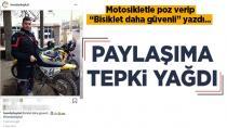 Motosikletle Poz Veren Baykal'a Tepki Yağdı