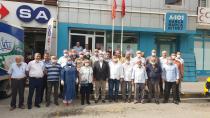 Muhtarlardan MHP'ye Hayırlı Olsun Ziyareti