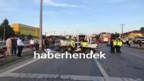 Otomobil Direğe Çarptı İki Kişi Yaralandı