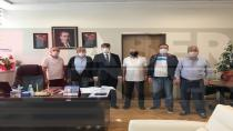 Gazeteciler Başhekim Küçükyılmaz'ı Ziyaret Etti