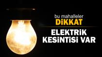 Hendek'te Bu Mahallelerde Elektrik Kesintisi Olacak