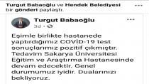 Başkan Babaoğlu ve Eşinin Kovid-19 Testi Pozitif