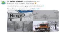 Belediyelerin sosyal medyadaki kar diyaloğu gülümsetti.