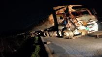 Hendekli Tır Şoförü Manisa'da Kazada Yaralandı